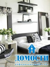 Черно-белая палитра спален