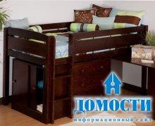 Элегантная детская кровать со столиком
