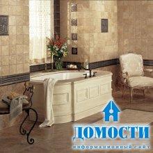 Контрастная плитка в ванной