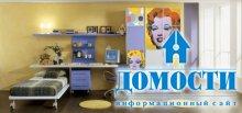 Детский шкаф с декоративной отделкой