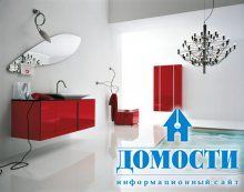 39 смелых ванных в красной палитре