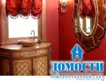 Нежные ванные красных оттенков