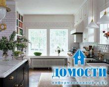 Яркие белые кухни