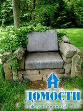 Садовые скамейки как украшение
