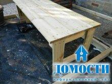 Деревянный стол за 20 минут