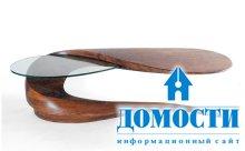 Необычные журнальные столики из дерева