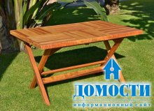 Деревянный стол с долговечностью металла