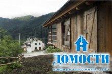 Современная реставрация амбара в горах