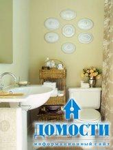 Приемы увеличения маленьких ванных