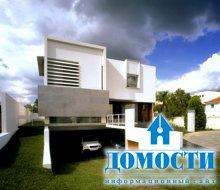Современный дом с необычной архитектурой