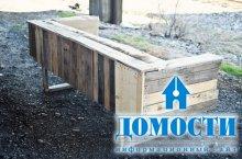 Садовая мебель из грузовых поддонов