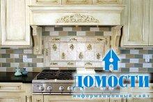 Плитка в дизайне кухни