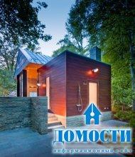Садовый дом в окружении леса