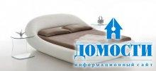 Скульптурная кожаная кровать