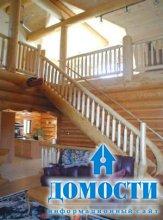 Отделка интерьера дома из дерева