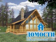 Деревянный дом для загородного отдыха
