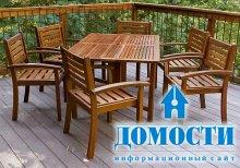 Как ухаживать за деревянной садовой мебелью