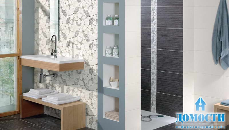 Moderne badezimmer fliesen braun