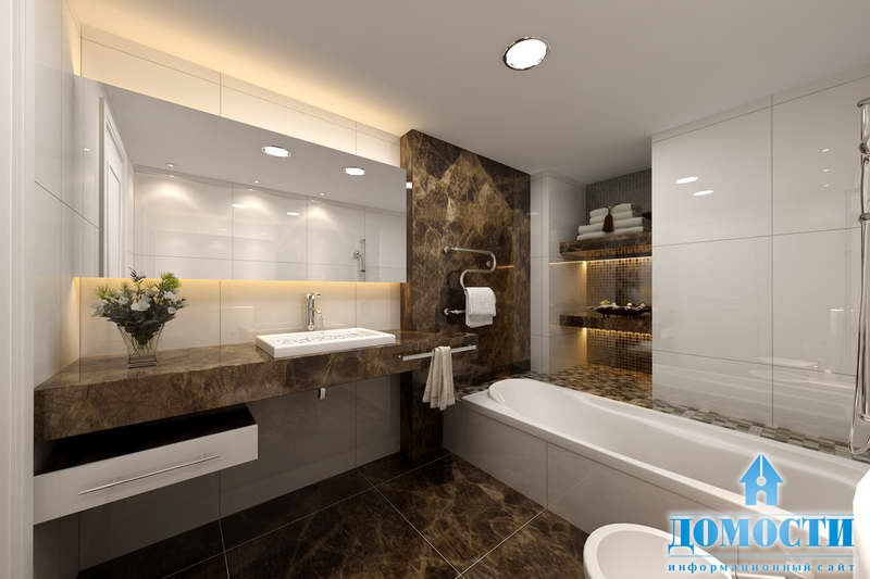 Современный стиль в дизайне ванной комнаты