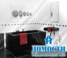 Ванные с черной плиткой