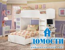 Кровать-чердак для девушки
