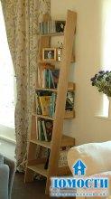 Дизайн лестничных стеллажей