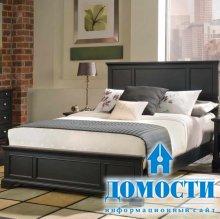 Самодельная деревянная кровать