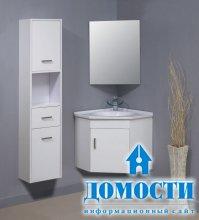 Ванные с угловой мебелью