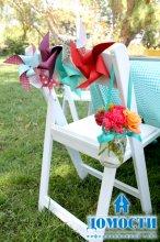 Декор стульев для свадьбы