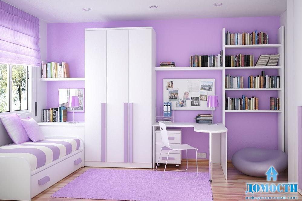 Сиреневая детская комната фото