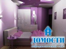 Фиолетовые оттенки в детской