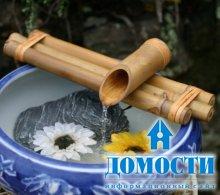 Водопад из бамбука
