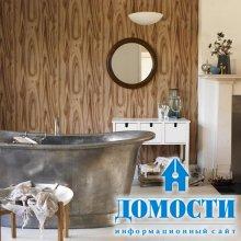 Интерьер ванных с обоями