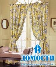 Цветочные шторы для гостиных