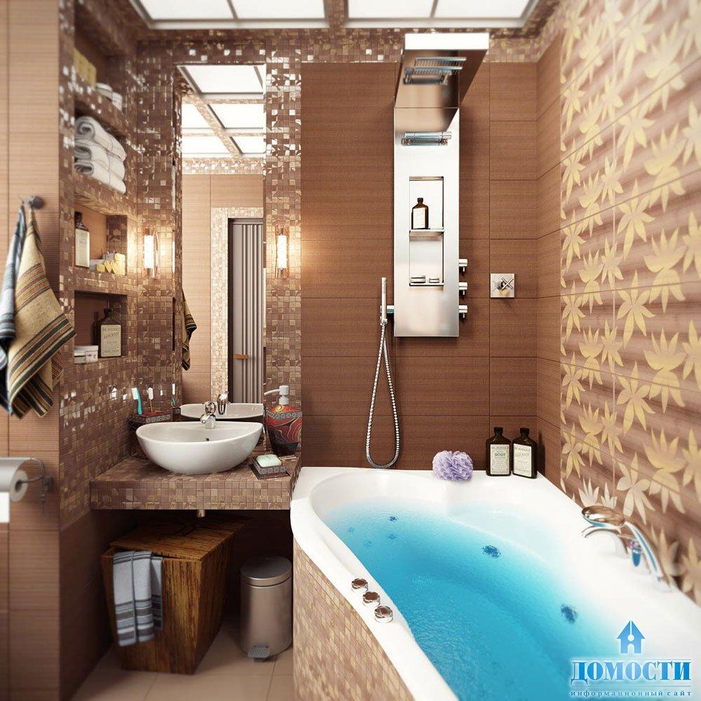Дизайн ваной комнаты с