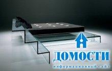 Современная кровать из стекла