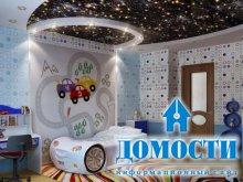 Глянцевые потолки в детской
