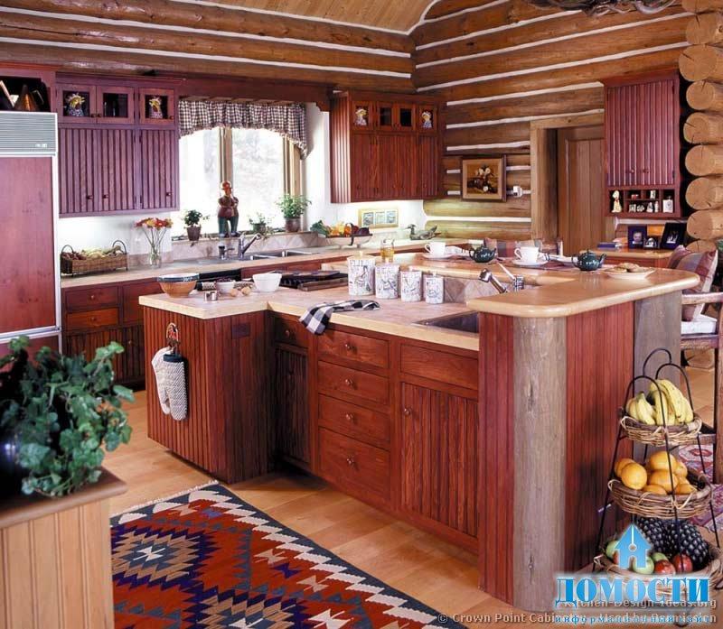 Дизайн кухни в доме под