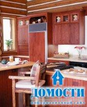 Особенности кухни в бревенчатом доме
