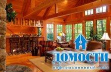 Деревенский стиль гостиных