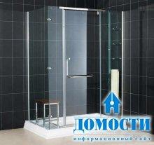 Монохромный интерьер ванных