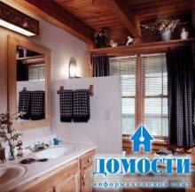 Ванные в деревянном доме