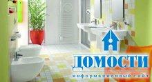 Яркие ванные в частном доме