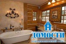 Деревенский стиль ванных