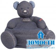 Джинсовый диван-мишка