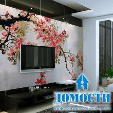 Китайские мотивы на стенах