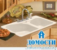 Угловая мойка для классической кухни