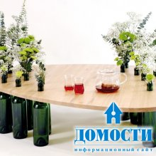 Столики из винных бутылок