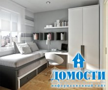 Экономия пространства в маленькой спальне
