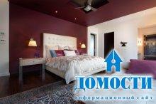 Контрастный цвет стен в спальне